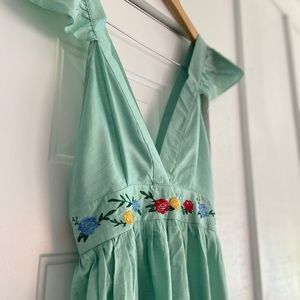 NWOT Pinafore Style Light Green Jumper